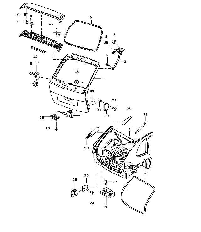 actuator lock rear lid