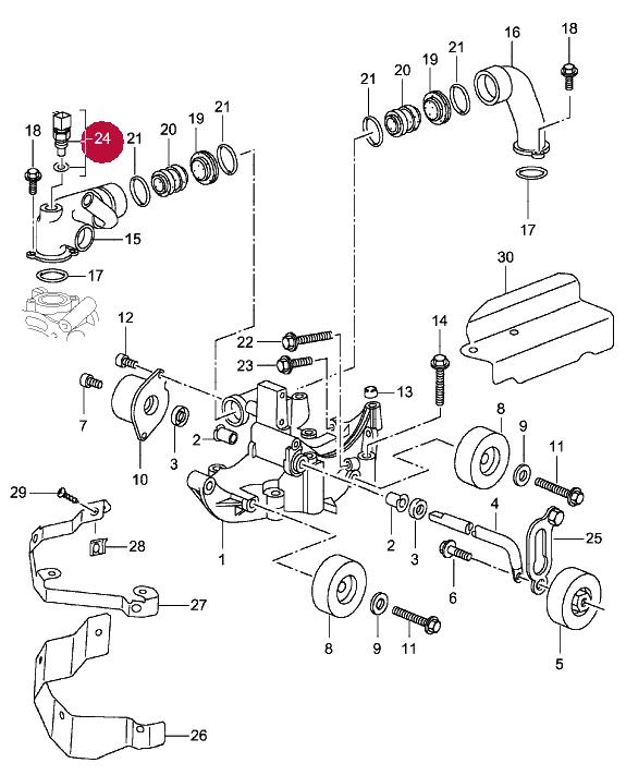 Porsche 996 Engine Temperature: Coolant Temperature Sensor Install?