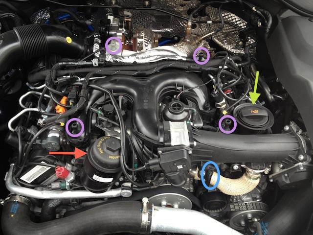 Diesel Oil Change Via Drain Plug Cayenne 92a