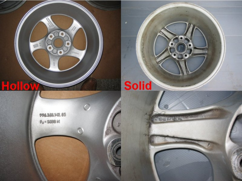 Differences Between Hollow Spoke Wheels 996 Series