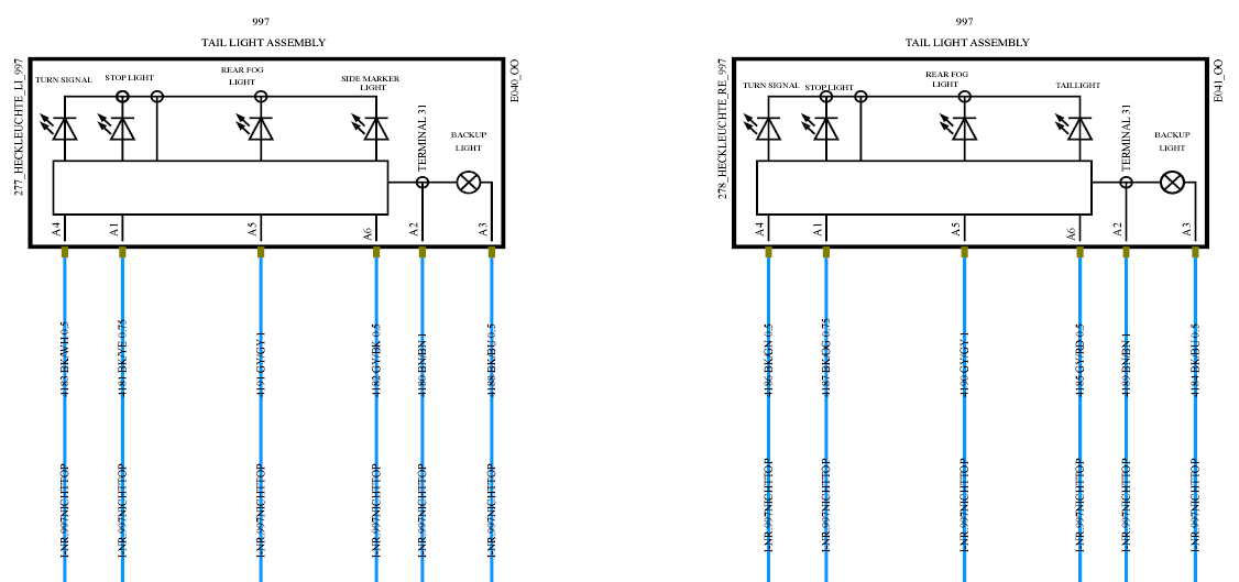 Rear tail light diagrams please - 996 TT, 996 TT S, 996 GT2 - RennTech.org  Community | Porsche Cayenne Tail Light Wiring Diagram |  | RennTech.org