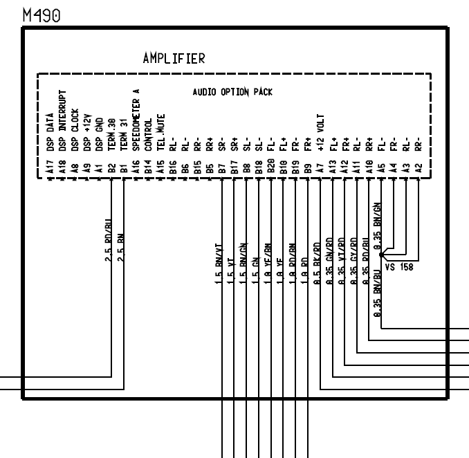 Wiring Diagram For Non-bose Amplifier - 986 Series  Boxster  Boxster S