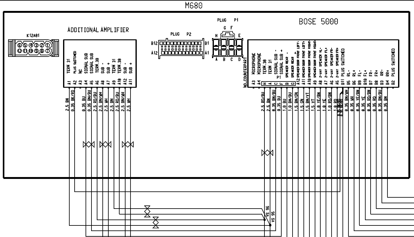 Bose Amplifier Wiring Diagram Electrical Work Subwoofer Free Download Cadillac Engine Image For User Manual Gm Amp 1994