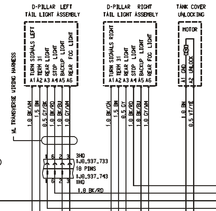 04 S Brake Light    Wiring    Harness  9PA  9PA1     Cayenne