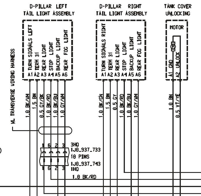 04 S Brake Light Wiring Harness - 9PA, 9PA1 (Cayenne, Cayenne S, Cayenne  Turbo, Cayenne Turbo S) - RennTech.org Community | Porsche Cayenne Tail Light Wiring Diagram |  | RennTech.org