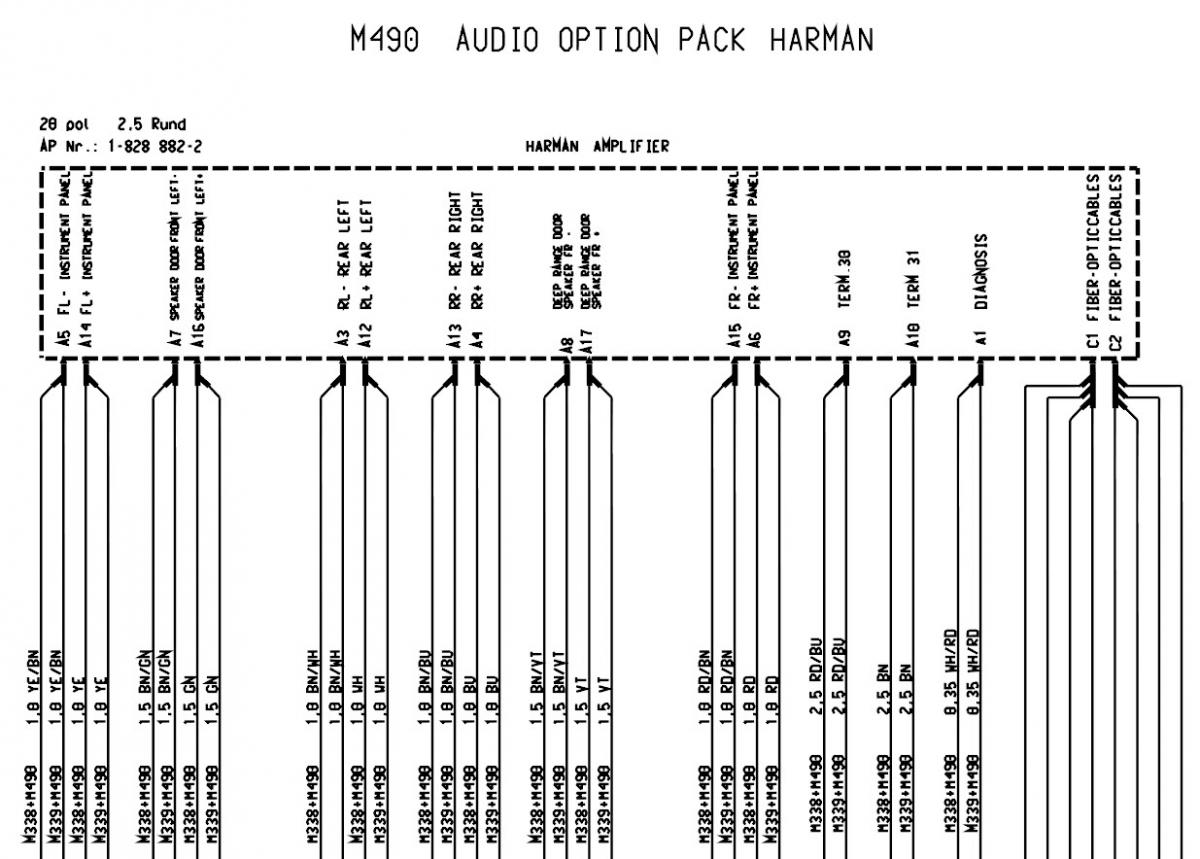 Amp Diagram  For 2003 Most  Non Bose