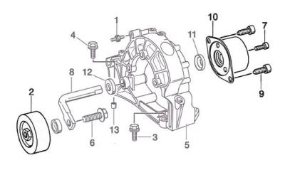 wet serpentine belt slips 996 tt 996 tt s 996 gt2 renntech the layout on a metzger engine is not exactly the same so i have no exact diagram but it is similar this is no picnic to get at and replace as it