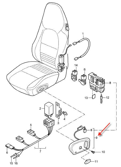 996 Driver Seat Wiring