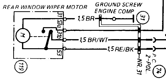 1974 Rear Wiper Motor Wiring Query - 911  912 Series