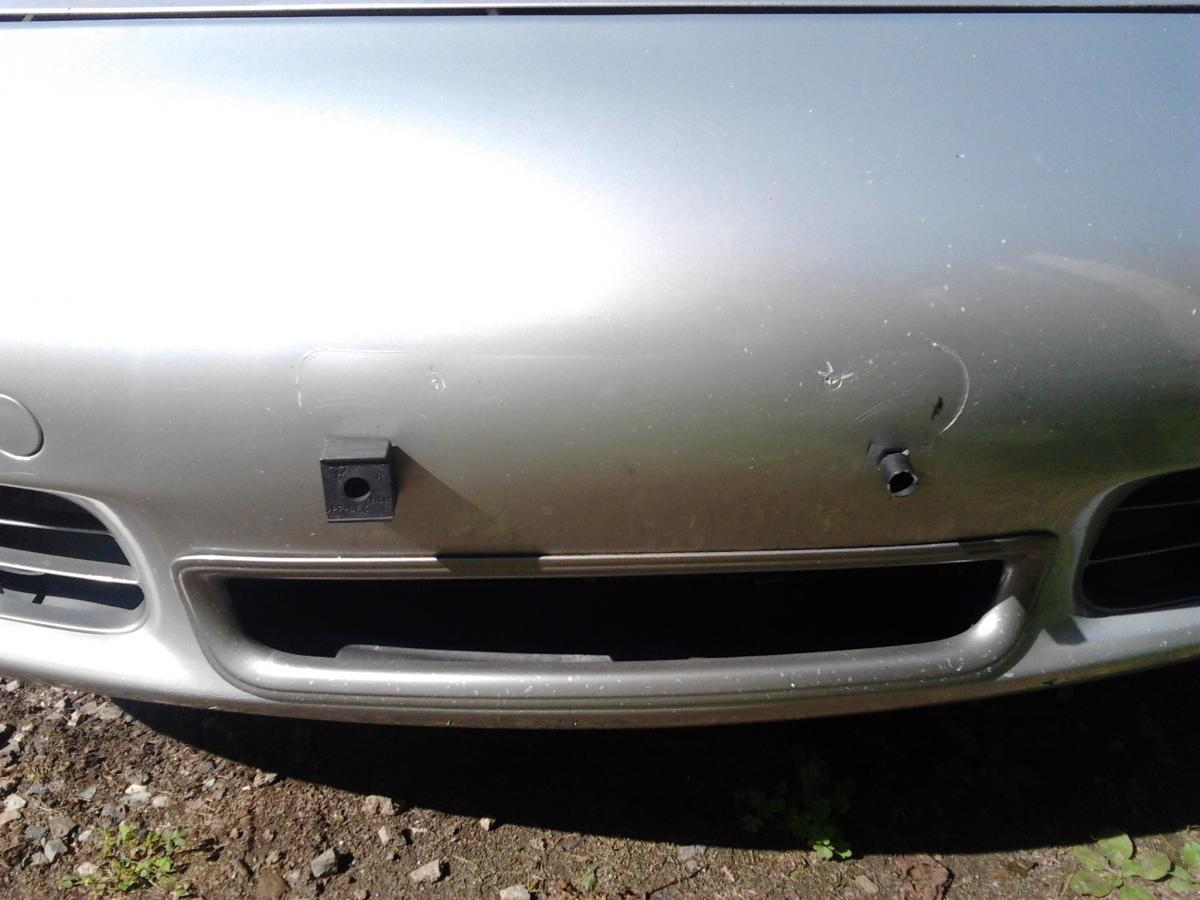 Front License Plate Block Removal 986 Series Boxster