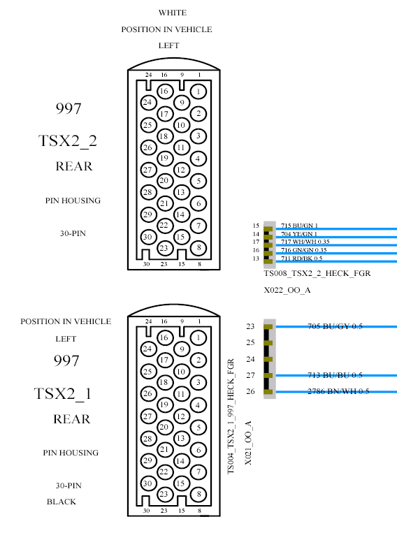 wiring diagram 997 2 series 4 2s 4s gts 911
