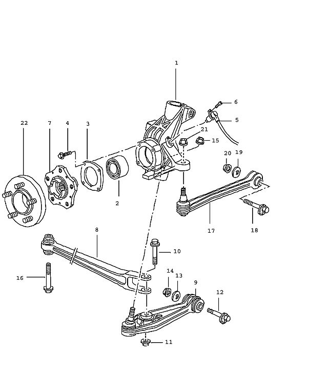 diy - replace rear upper control arms  track arms  - diy articles - boxster  986