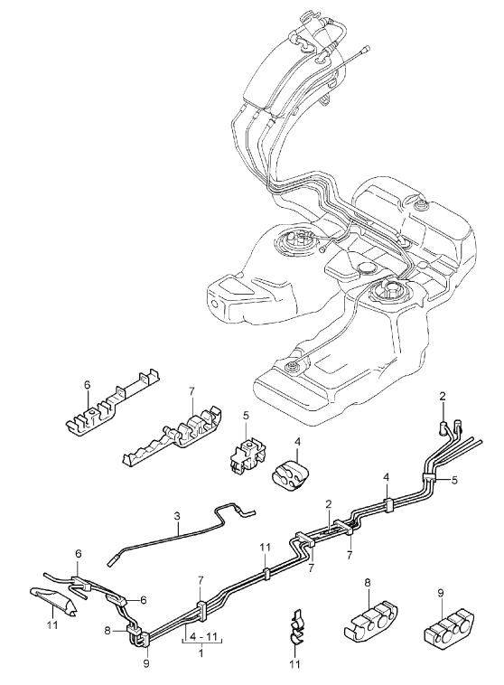 fuel line retainer clips