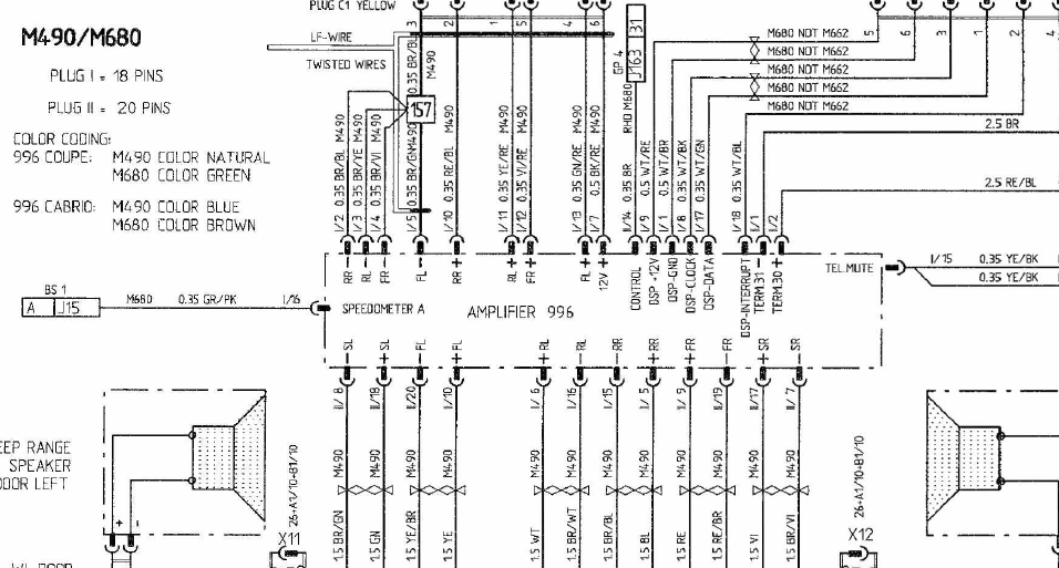 amplifier wiring diagram for nokia 6 x 40 watt oem