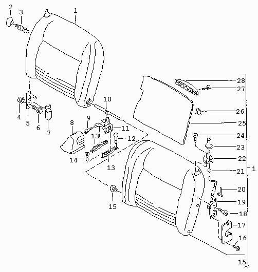 Instructions For Rear Seat Back Removal